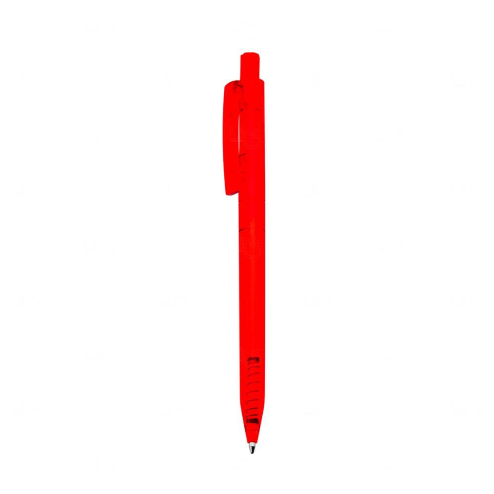 Caneta Plástica Personalizada Vermelho
