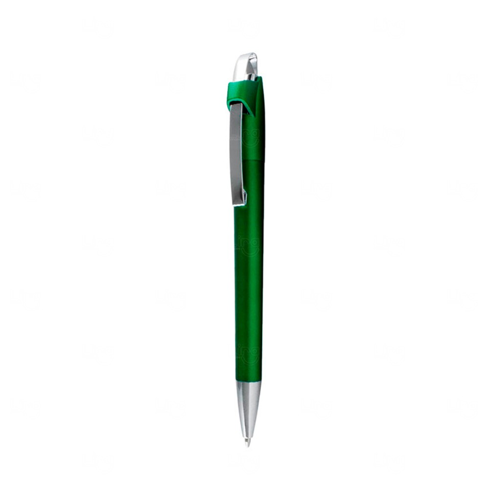 Caneta Plástica Esferográfica Personalizada Verde