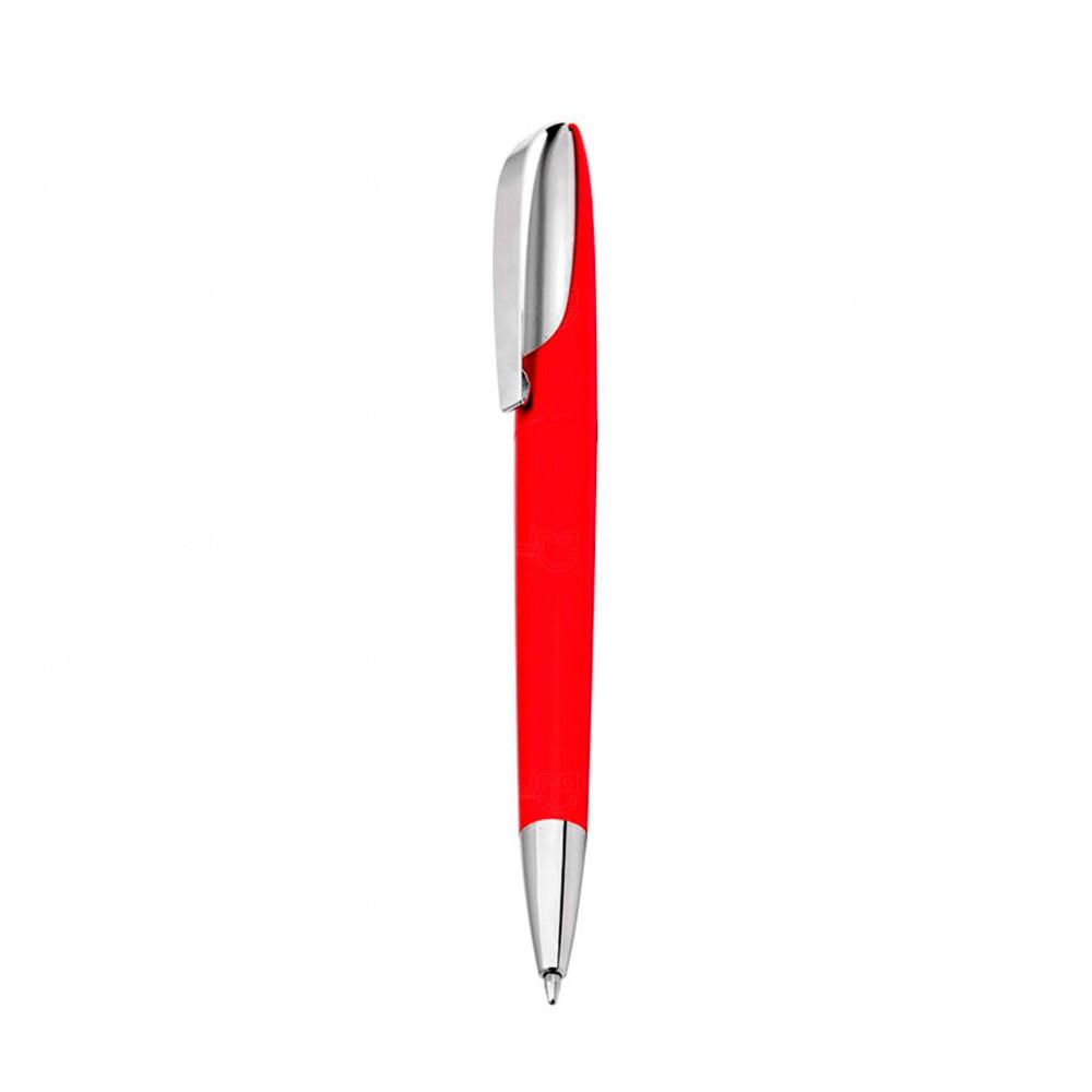Caneta Plástica Personalizada Fosca Vermelho