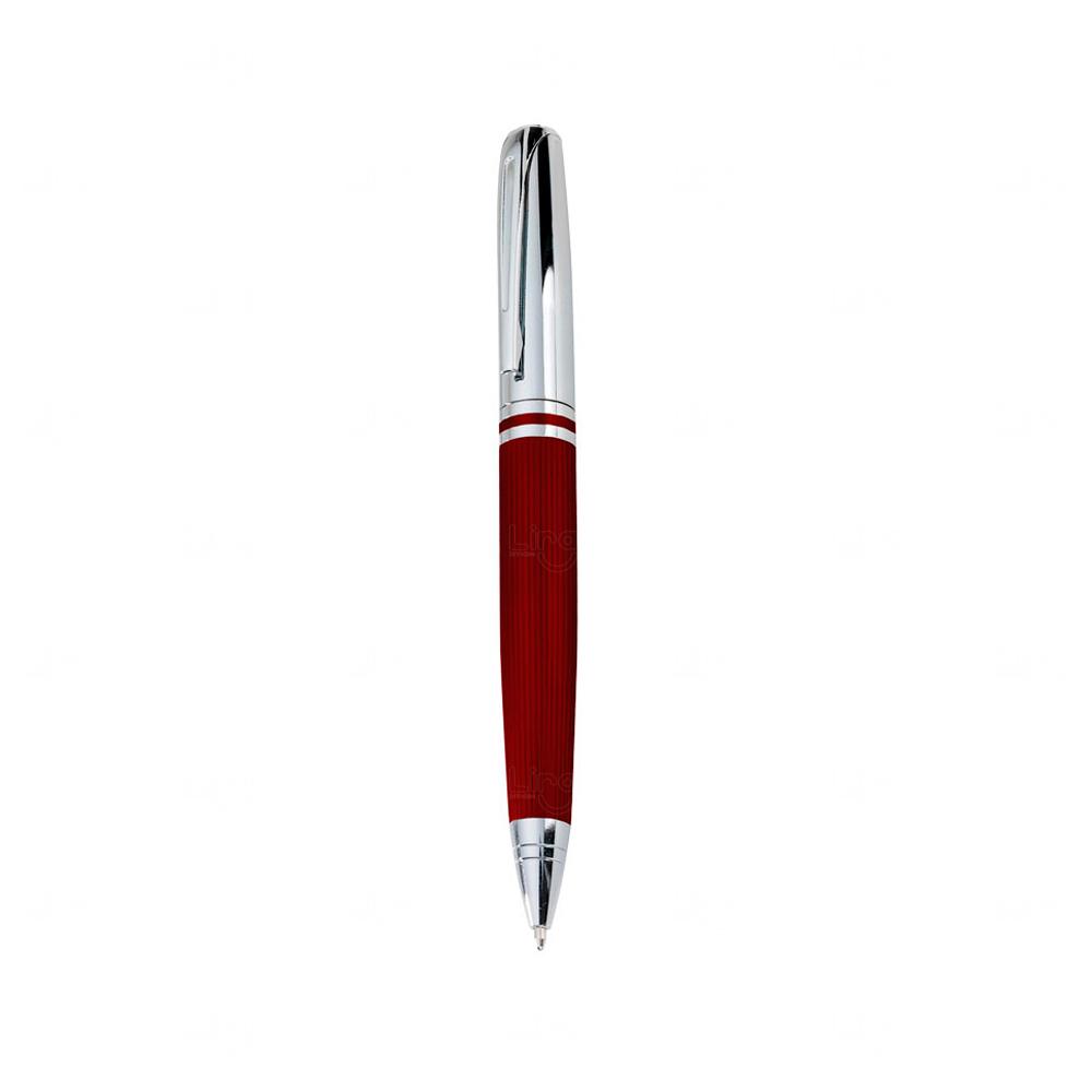 Caneta Esferográfica Personalizada Vermelho