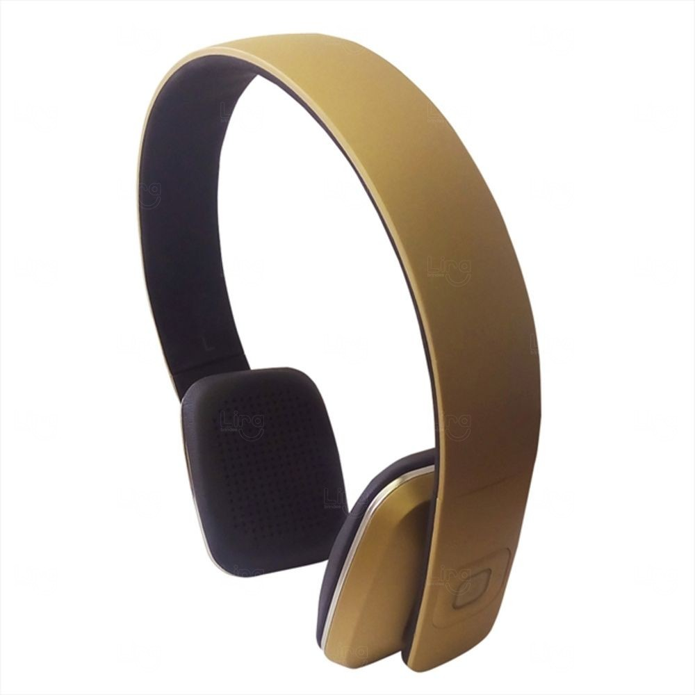 Headphone Bluetooth Personalizado Dourado
