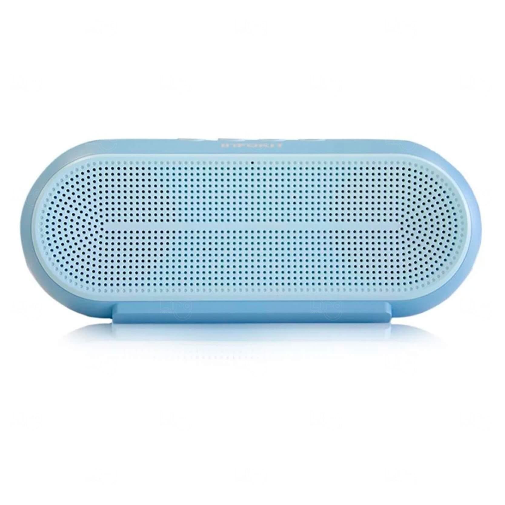 Caixa De Som Bluetooth Personalizada Azul Claro