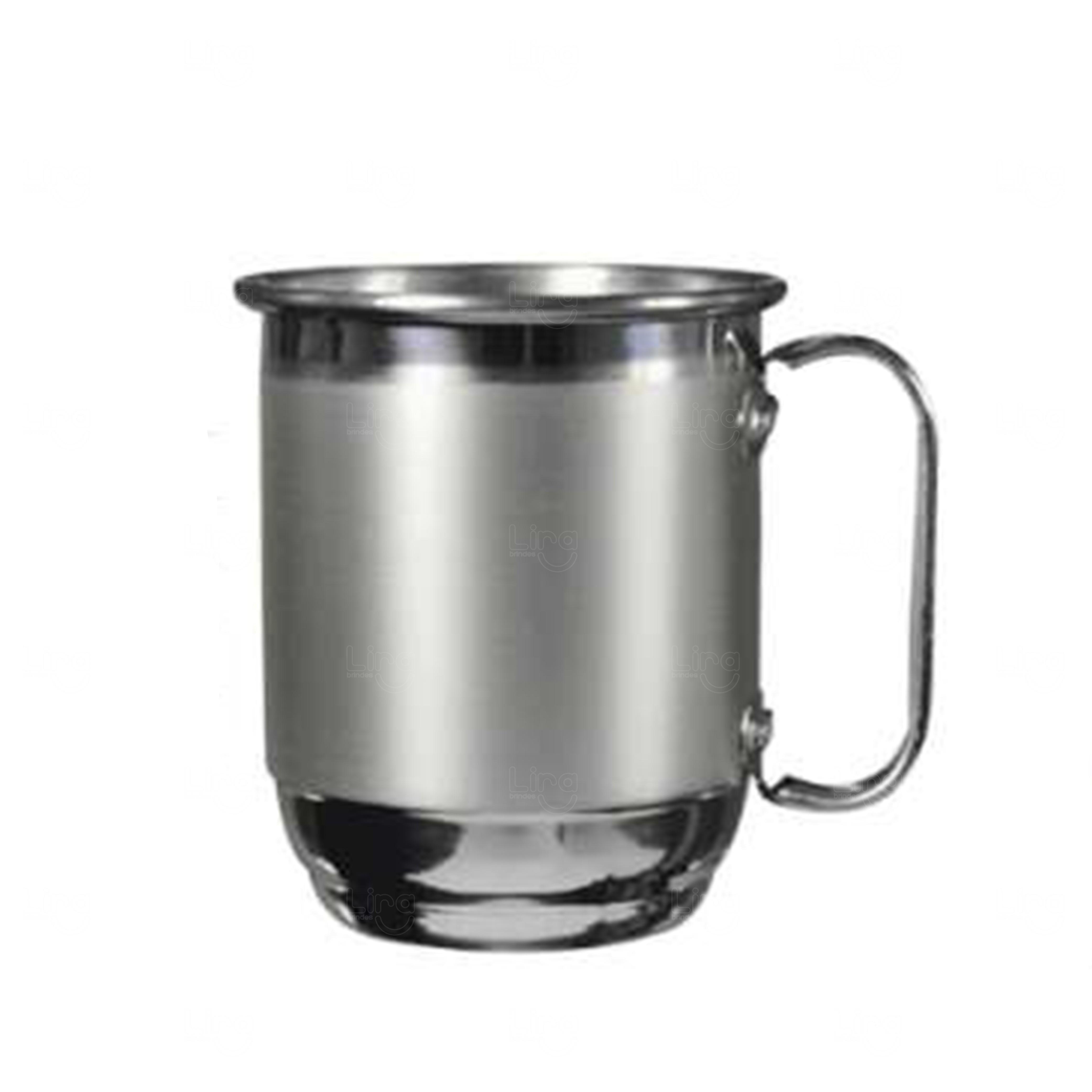 Caneca Alumínio Personalizada - 500 ml Inox