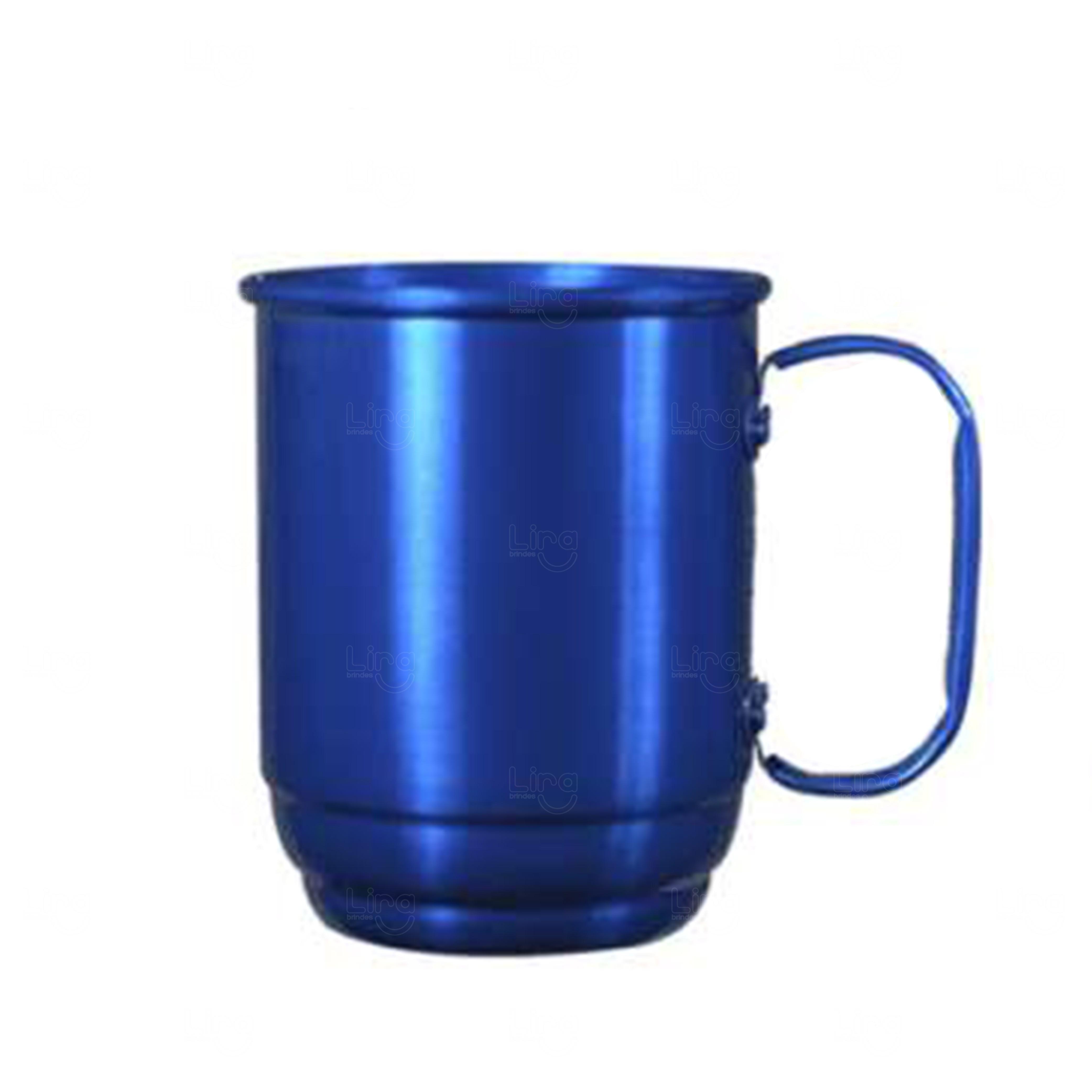 Caneca Alumínio Personalizada - 500 ml Azul