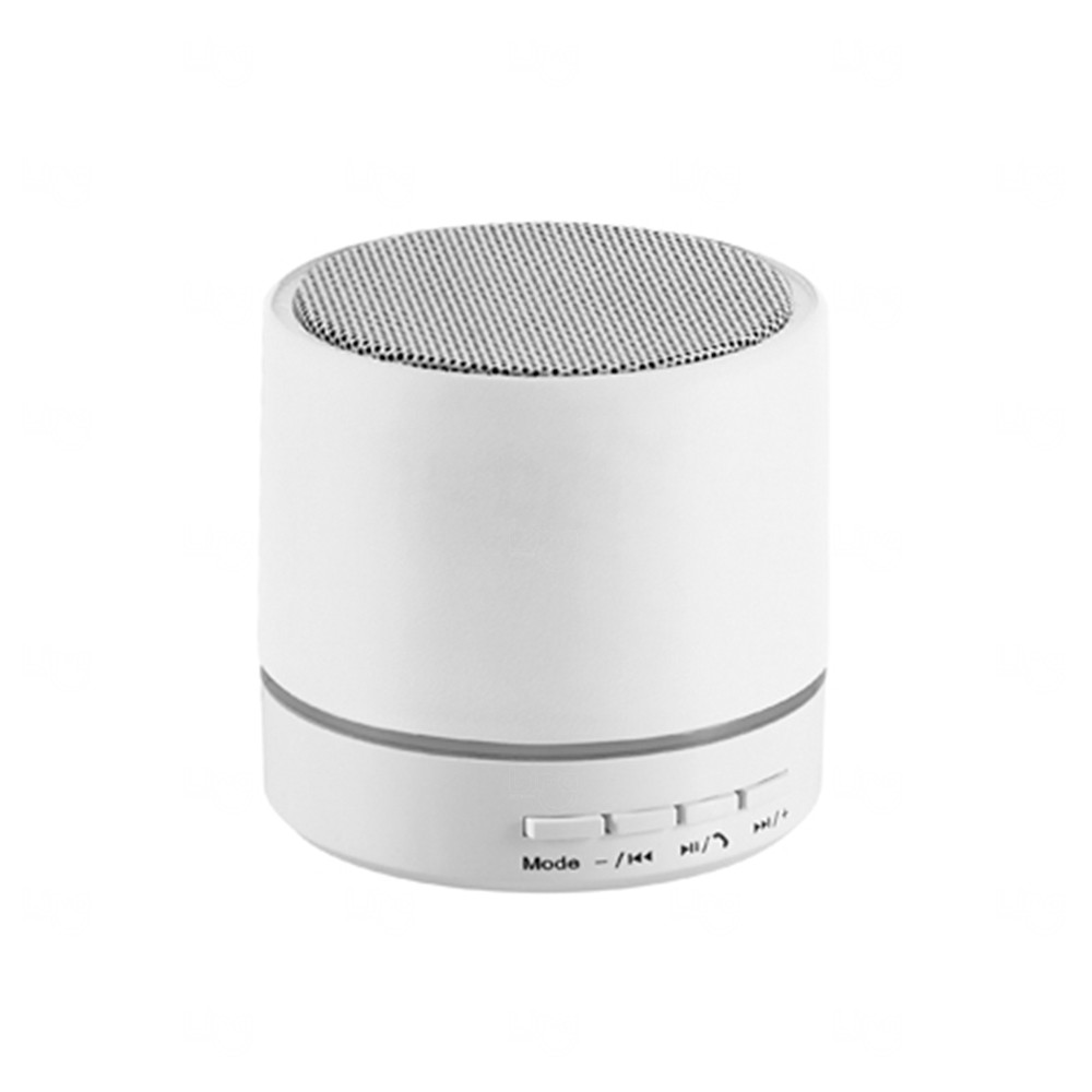 Caixa de Som com Microfone Personalizado Branco