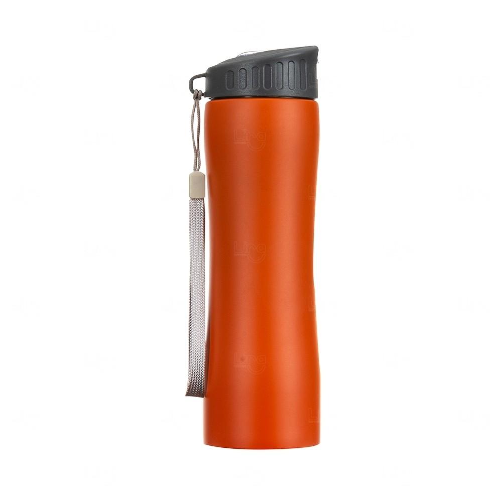 Squeeze Metal Personalizada - 600 ml Laranja