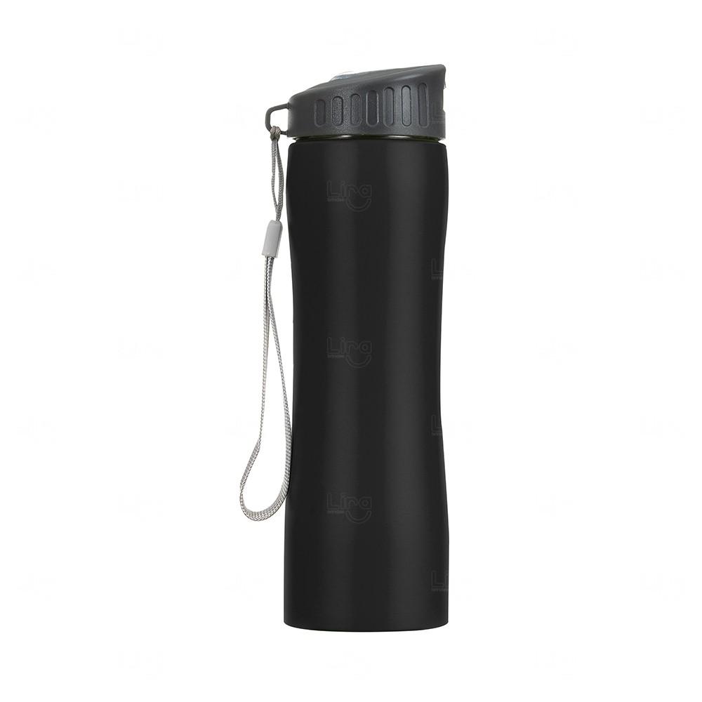 Squeeze Metal Personalizada - 600 ml Preto