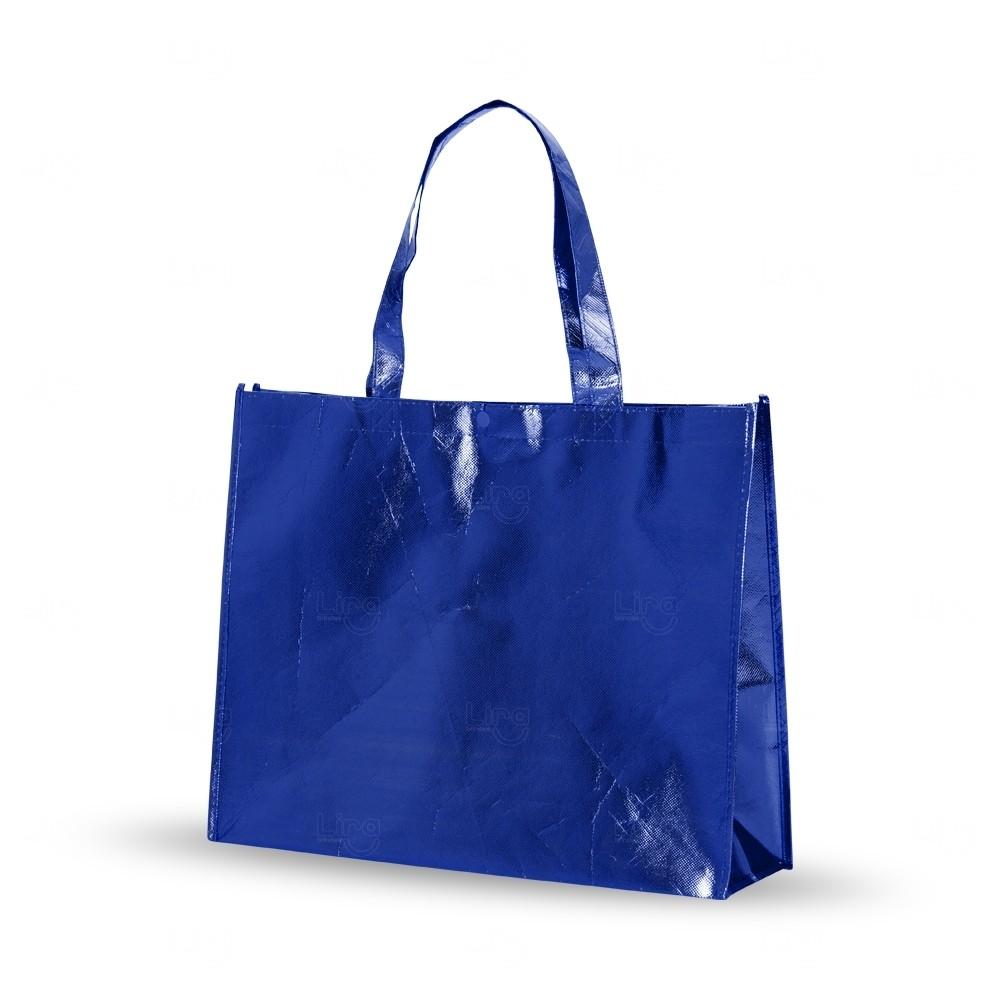 Sacola  Metalizada Personalizada em TNT Azul
