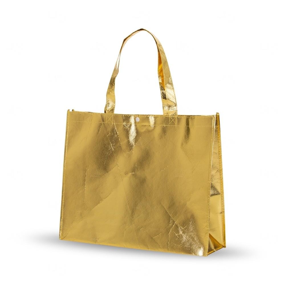 Sacola  Metalizada Personalizada em TNT Dourado