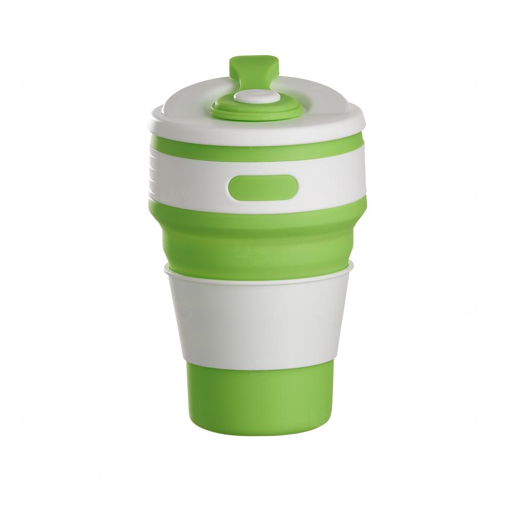 Copo Retrátil Personalizado - 350 ml Verde