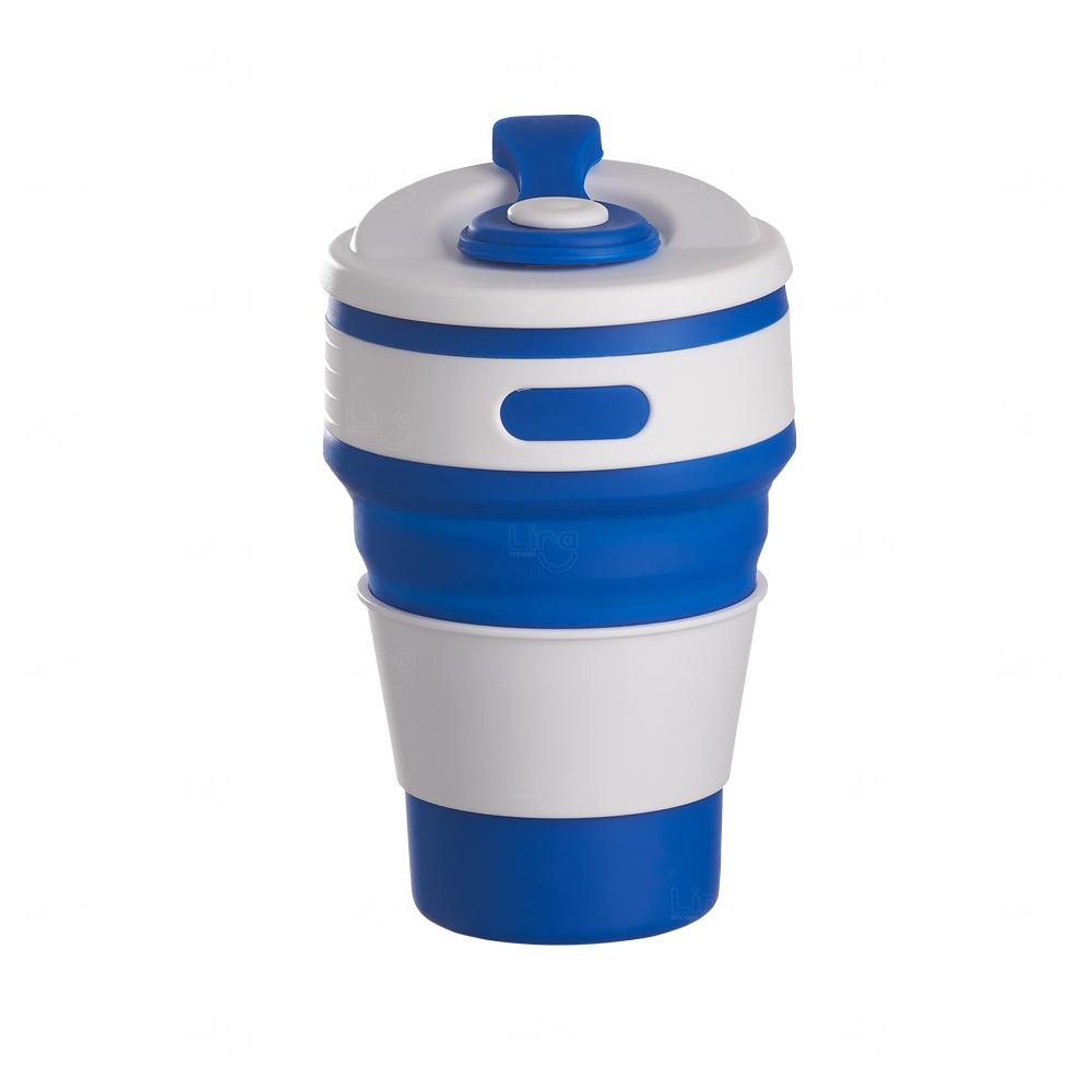 Copo Retrátil Personalizado - 350 ml Azul