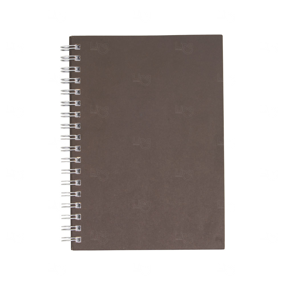 Caderno Capa Dura Personalizado Marrom