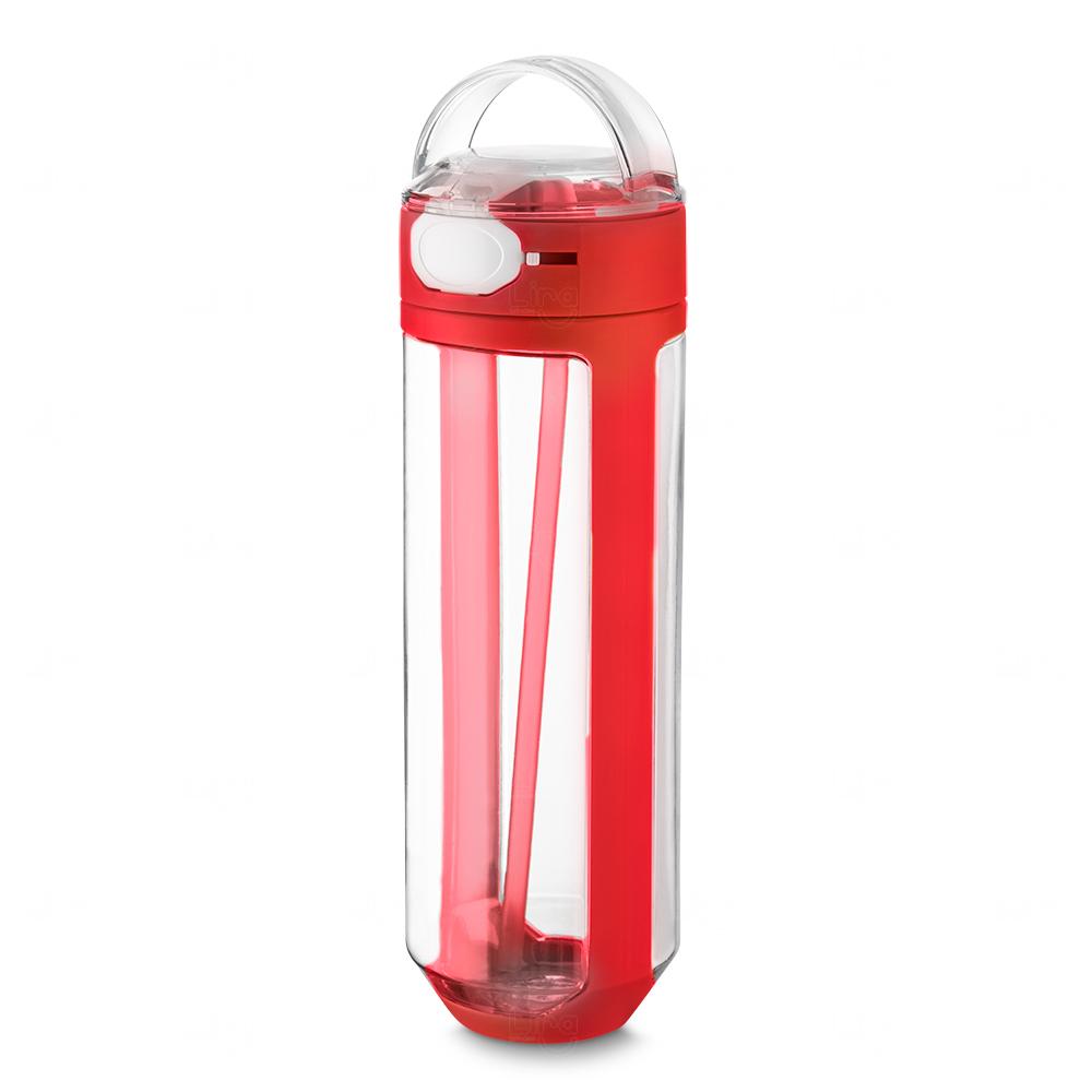 Garrafa Plástica Personalizada Vermelho