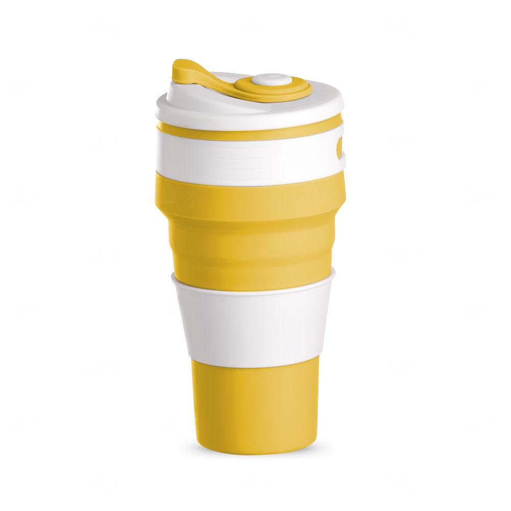 Copo Retrátil Personalizado -  500ml Amarelo