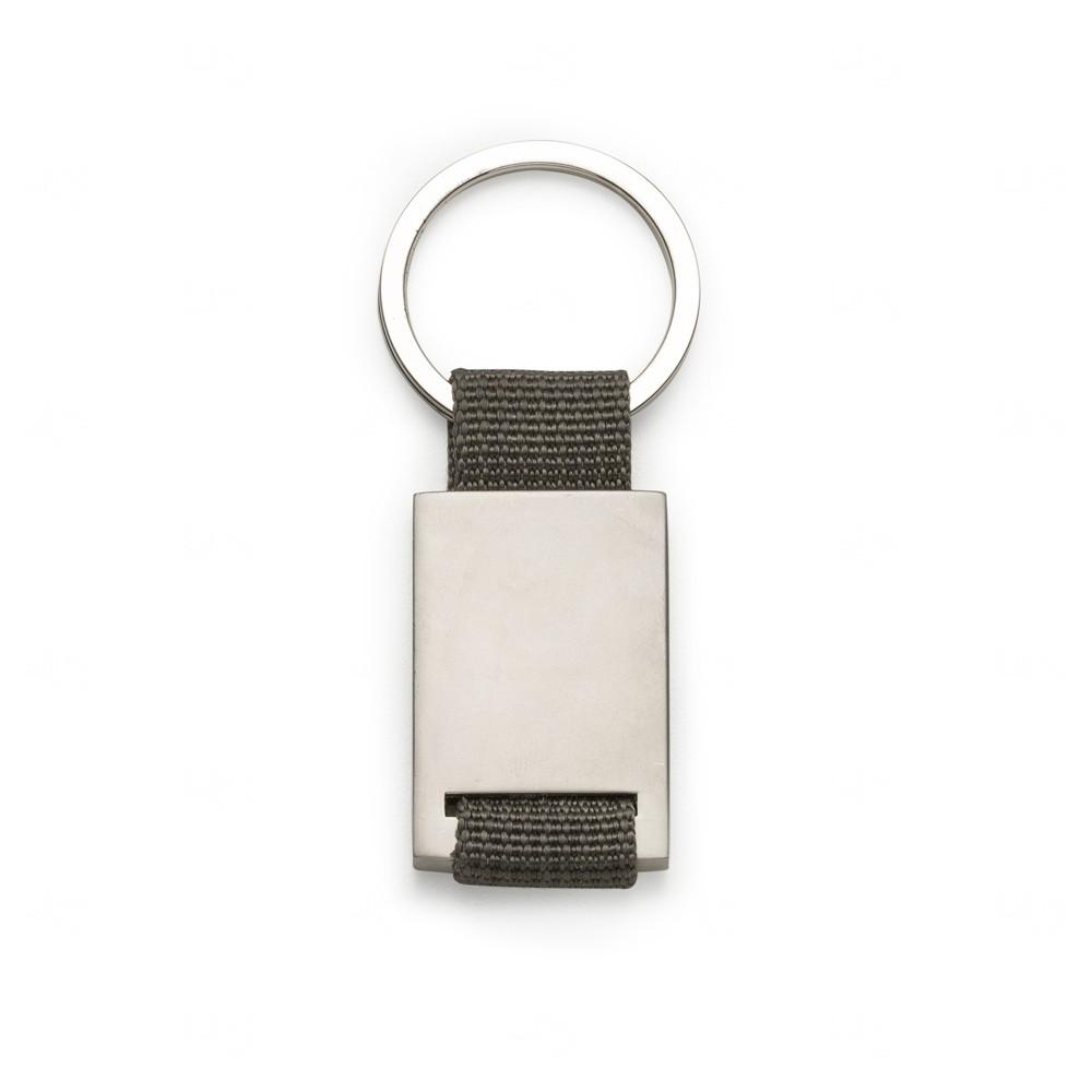 Chaveiro de Metal  Personalizado Cinza
