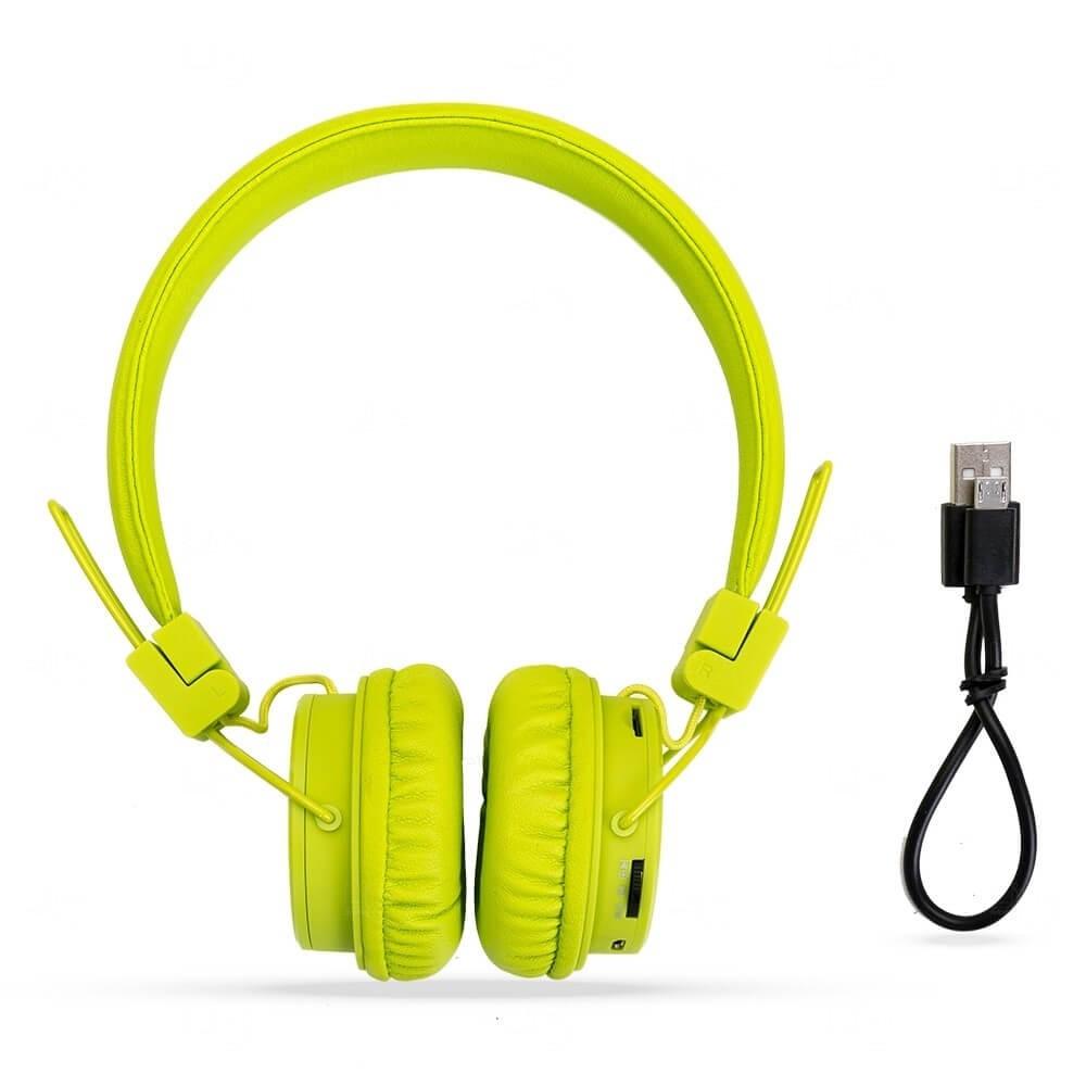 Fone De Ouvido Bluetooth Personalizado Verde Claro
