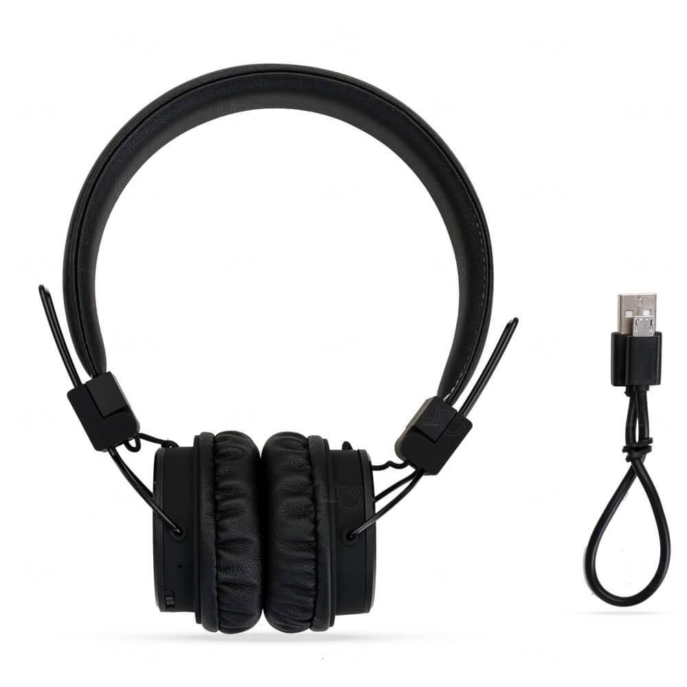 Fone De Ouvido Bluetooth Personalizado Preto