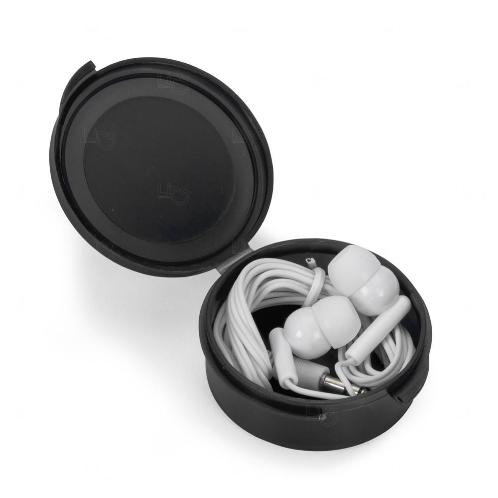 Fone de Ouvido Intra Auricular Personalizado Preto
