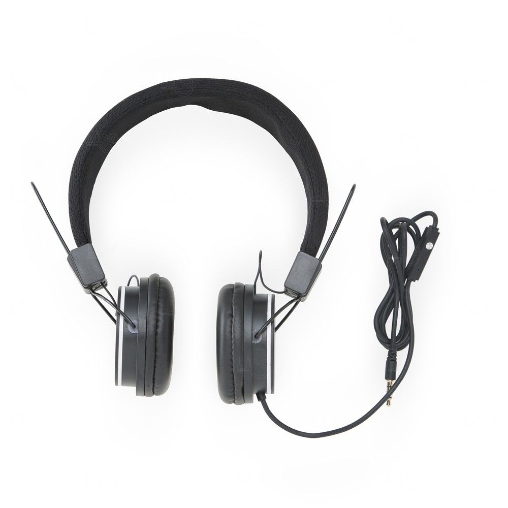 Fone De Ouvido Com Microfone Personalizado Preto