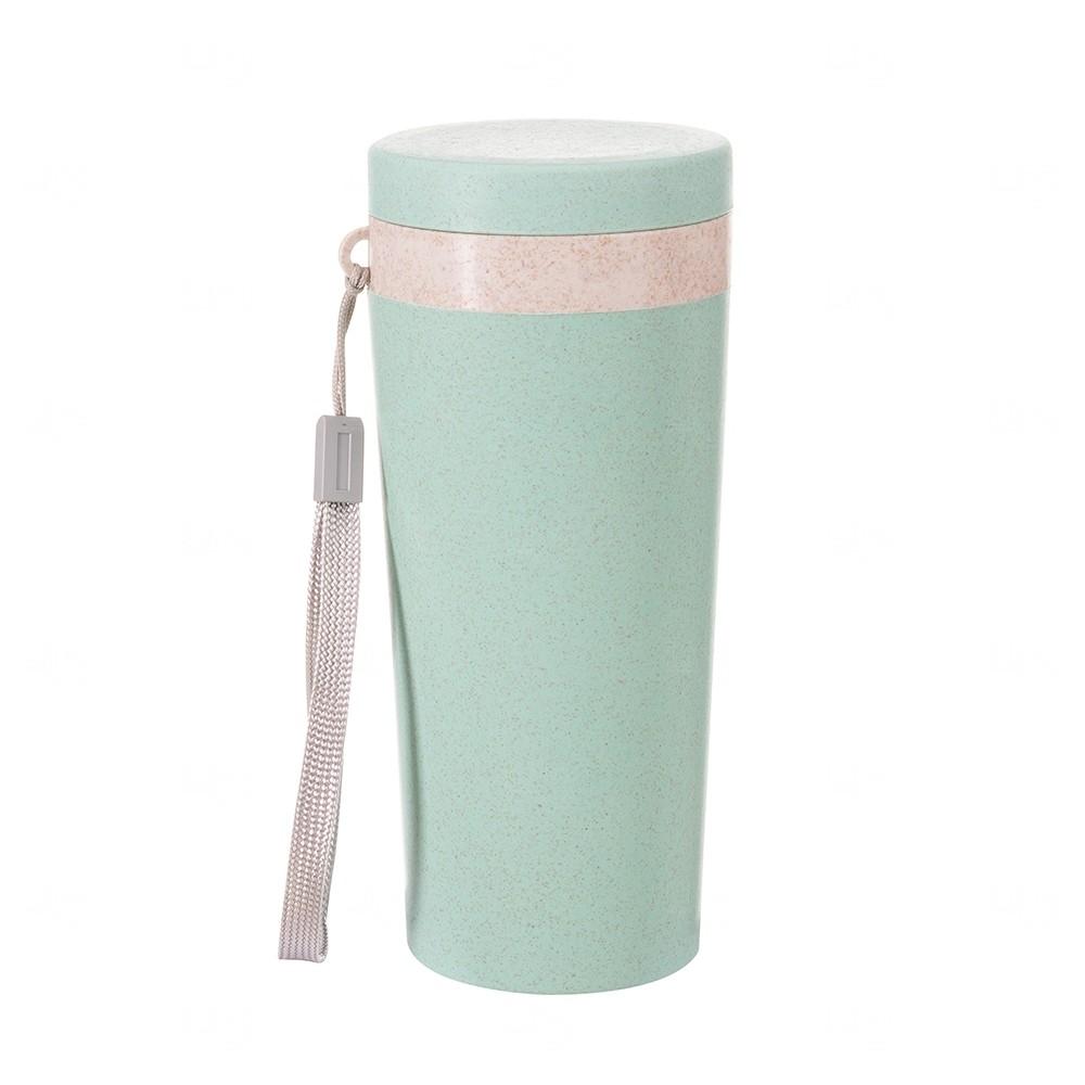 Copo Térmico Personalizado Fibra De Bambu - 350 ml Verde
