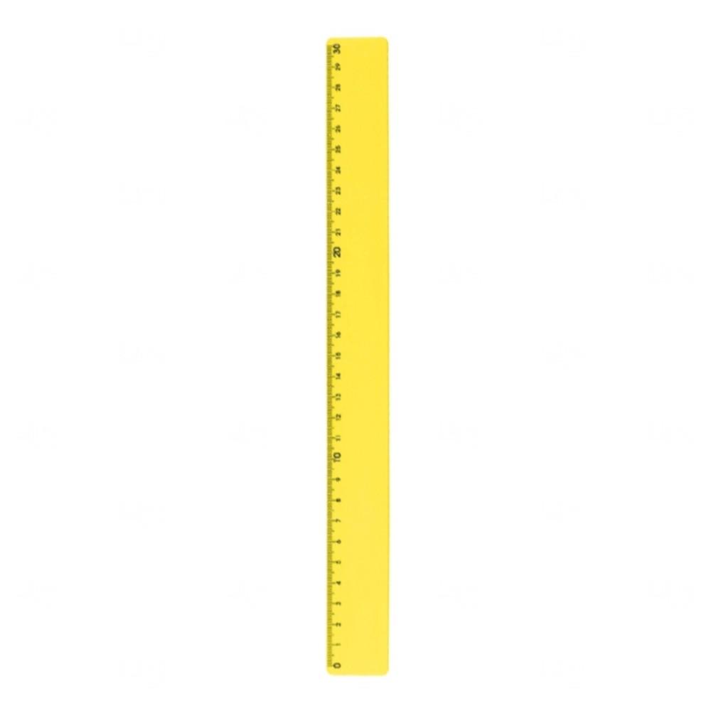Régua Plastica Colorida Personalizada Amarelo