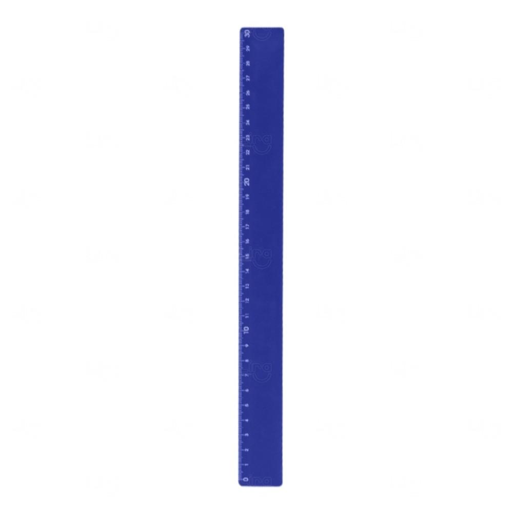 Régua Plastica Colorida Personalizada Azul