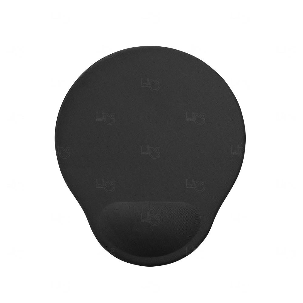 Mouse Pad com Apoio de Espuma Personalizado Preto