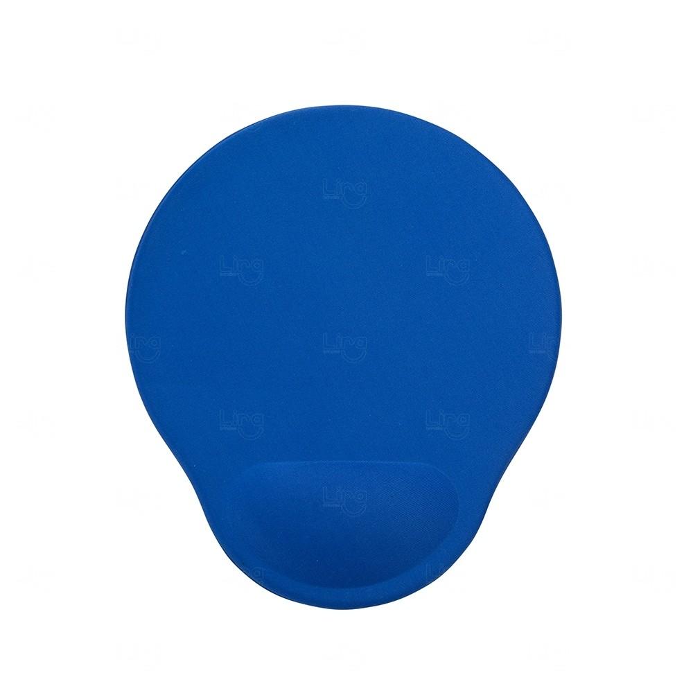 Mouse Pad com Apoio de Espuma Personalizado Azul