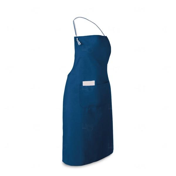 Avental Algodão E Poliéster Personalizado Azul