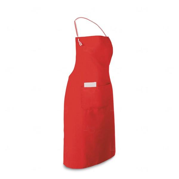 Avental Algodão E Poliéster Personalizado Vermelho