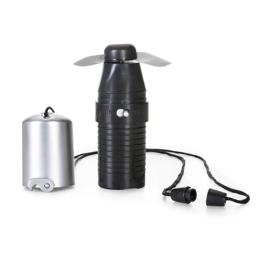 Mini Ventilador de Mão Personalizado Preto