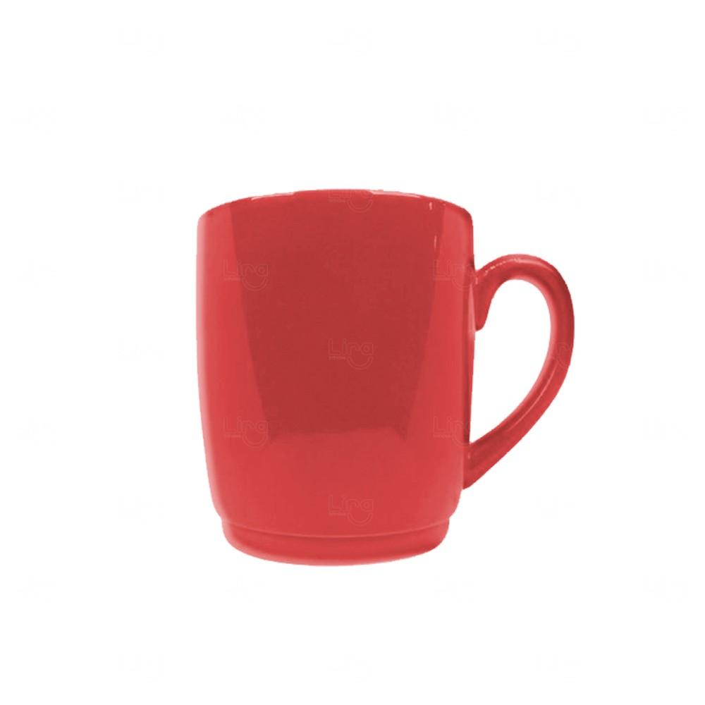 Caneca Cerâmica Color Personalizada Vermelho
