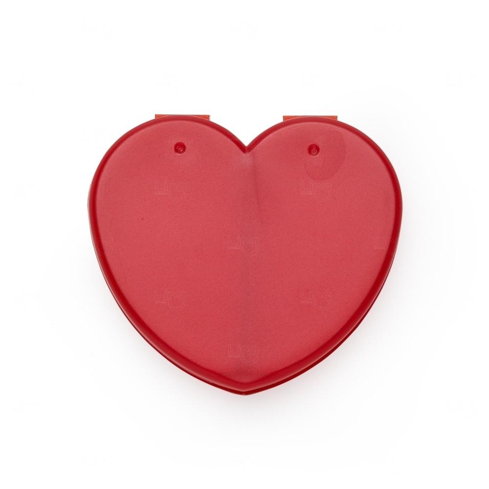 Porta Comprimidos Coração Personalizado Vermelho