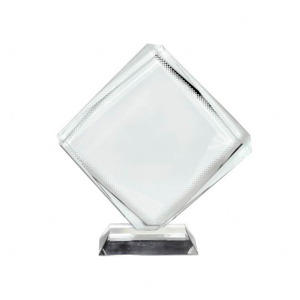 Ornamento De Vidro Octaedro Personalizado Transparente