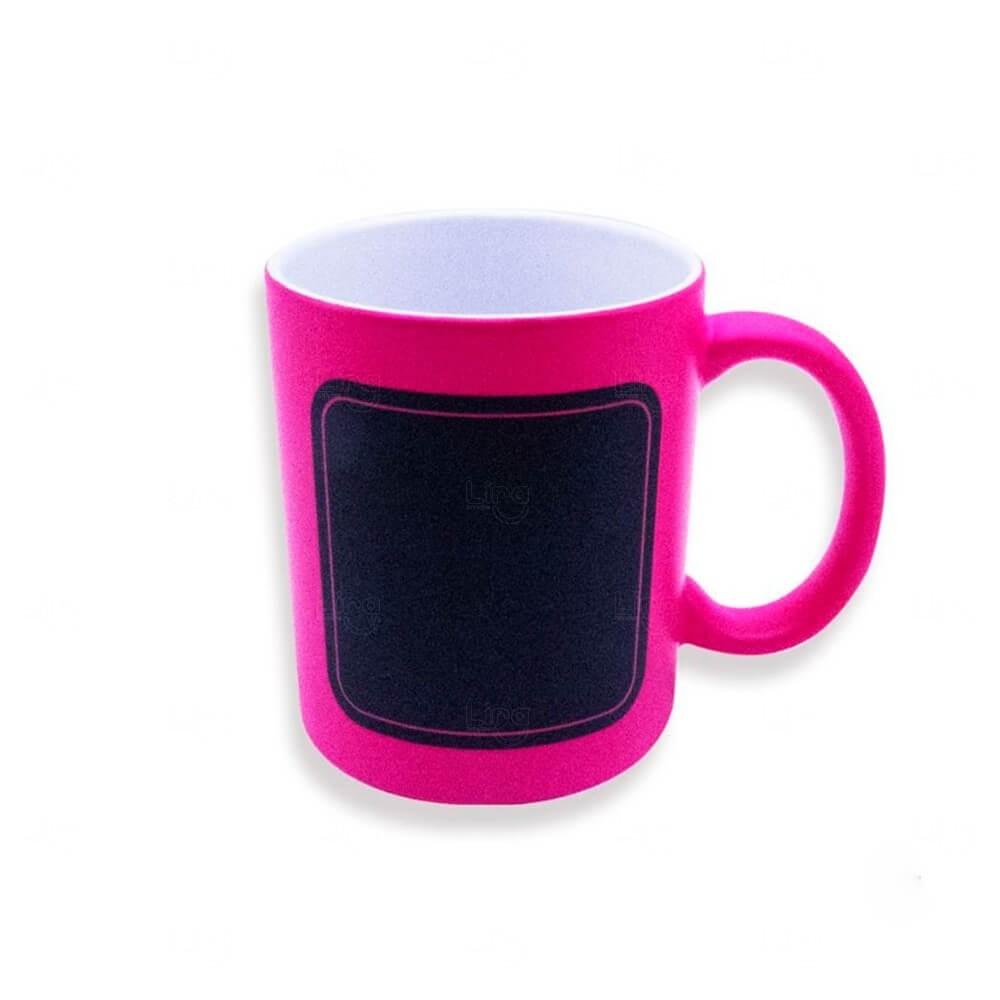 Caneca Quadro Negro Personalizado - 325 ml Rosa