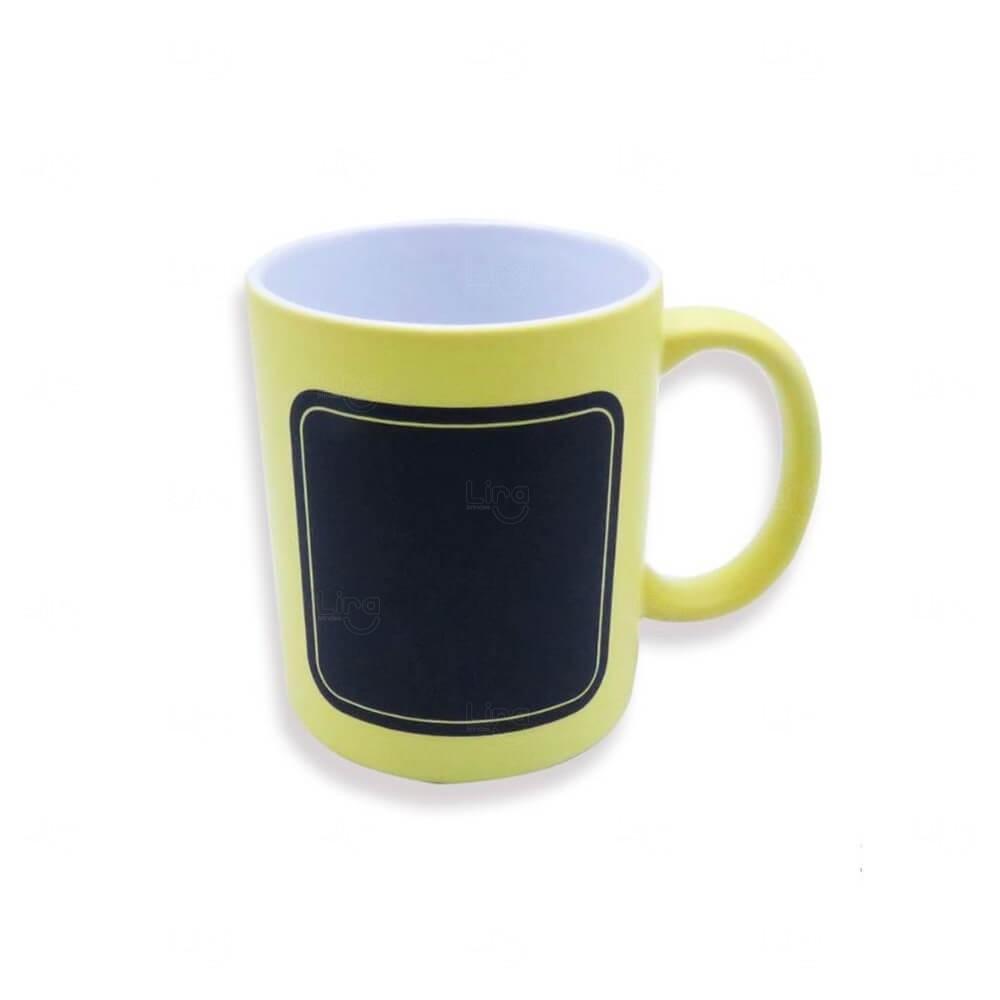 Caneca Quadro Negro Personalizado - 325 ml Amarelo