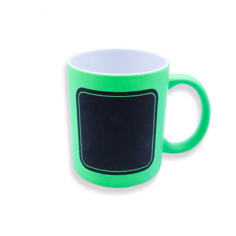 Caneca Quadro Negro Personalizado - 325 ml Verde