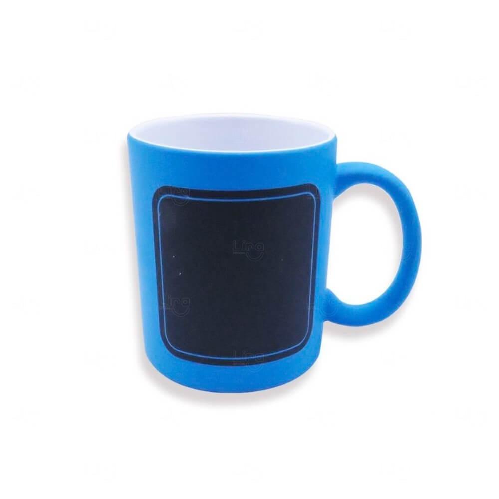 Caneca Quadro Negro Personalizado - 325 ml Azul