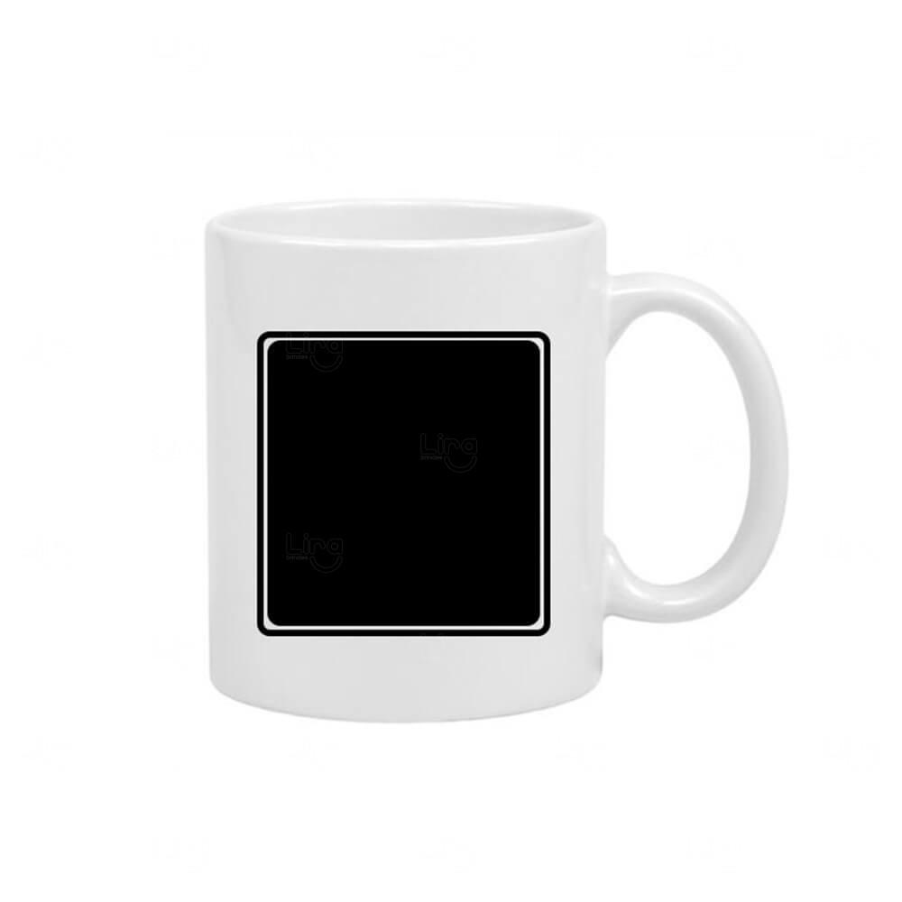Caneca Quadro Negro Personalizado - 325 ml Branco