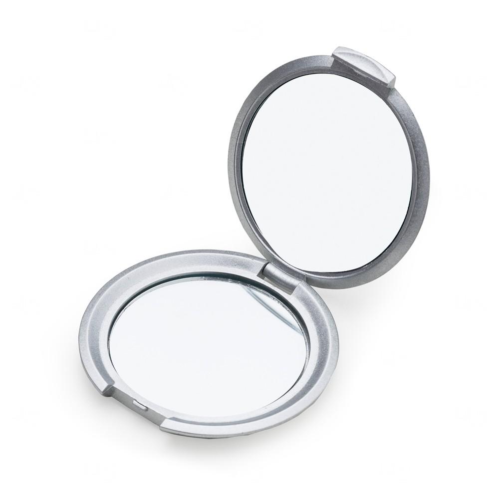 Espelho Dupla Redondo Personalizado Prata