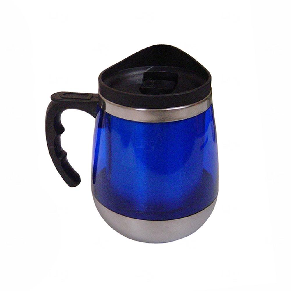 Caneca Portátil Plástica Personalizada - 450ml Azul