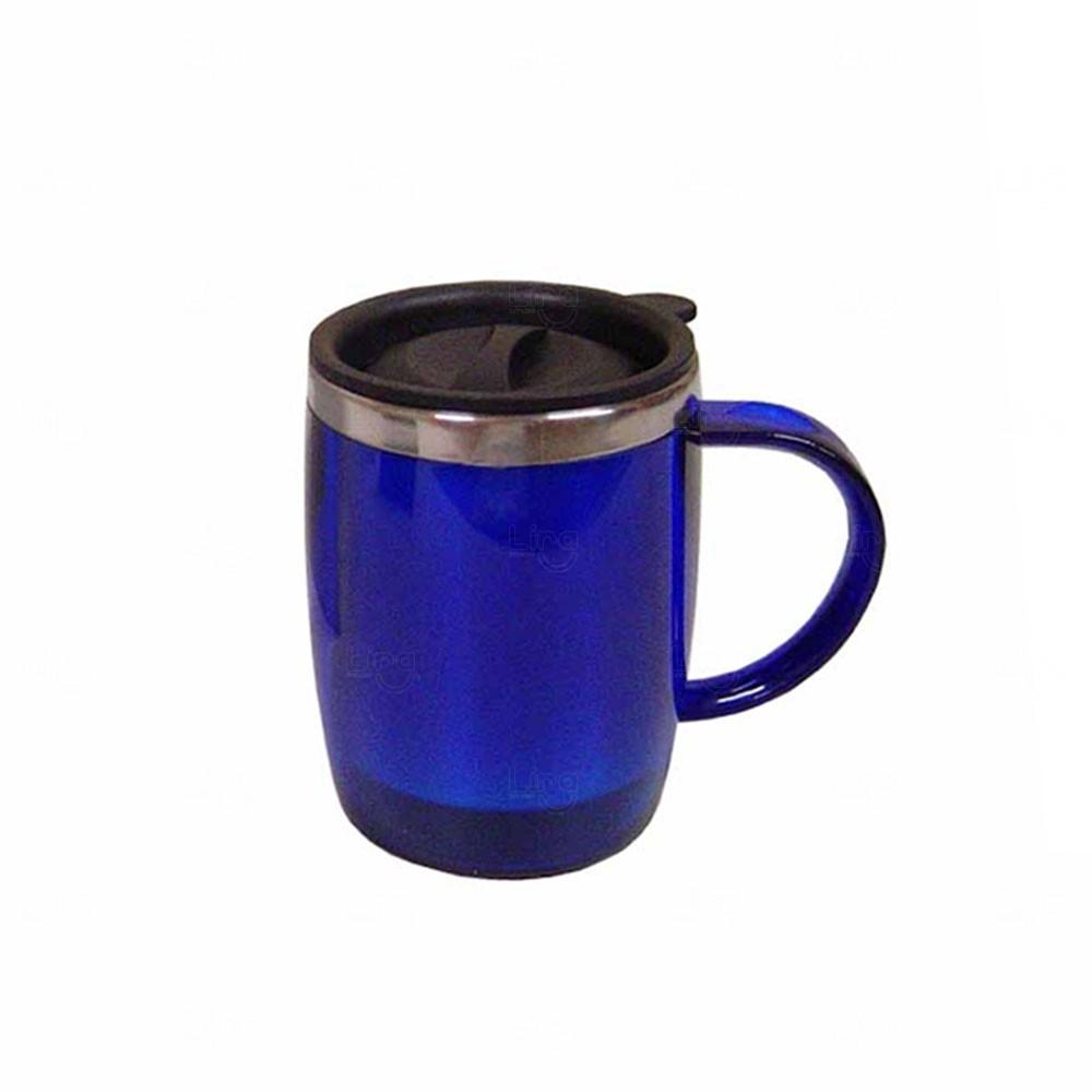 Caneca Plástica Personalizada - 450 ml Azul