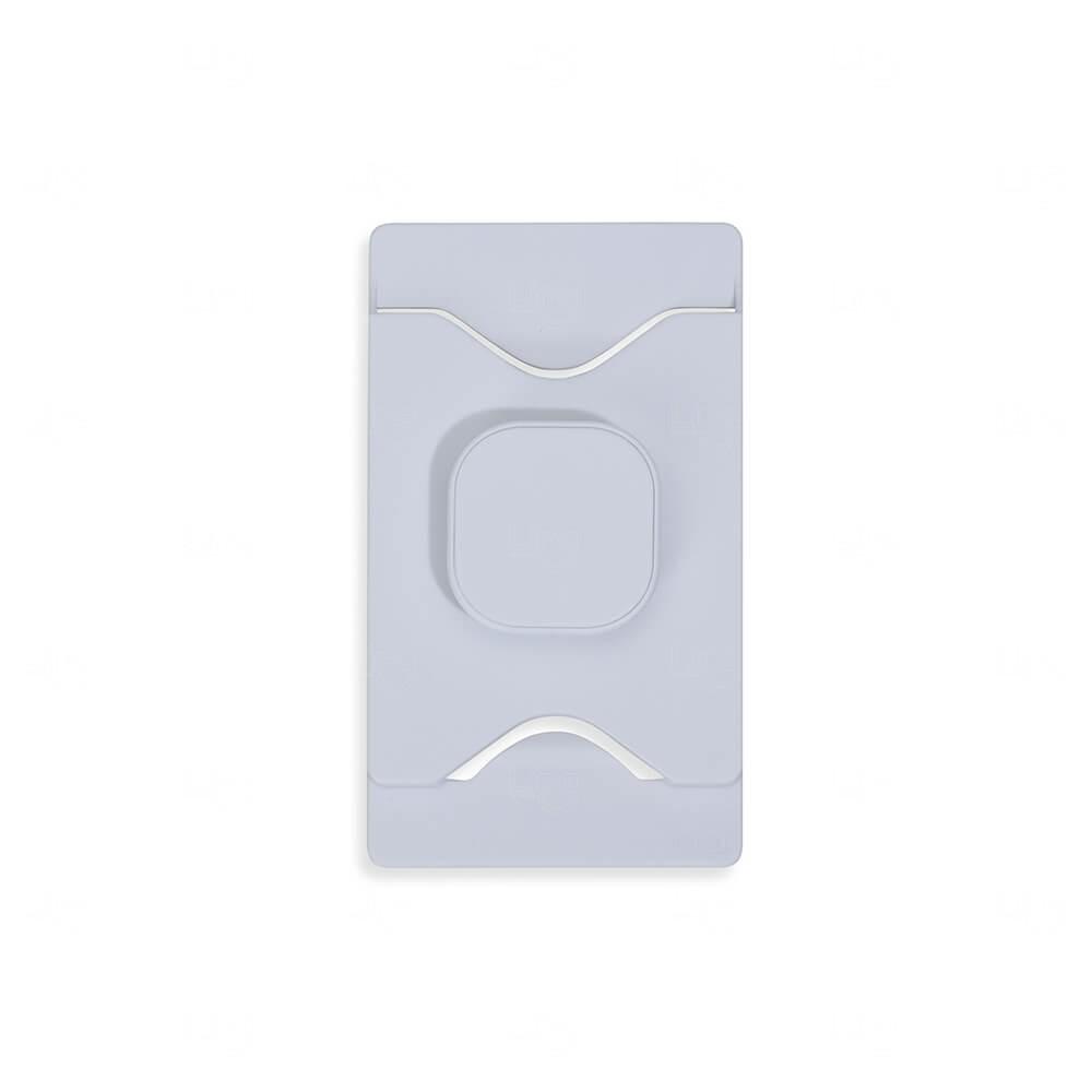 Porta Cartão Com Suporte Para Celular Personalizado Branco