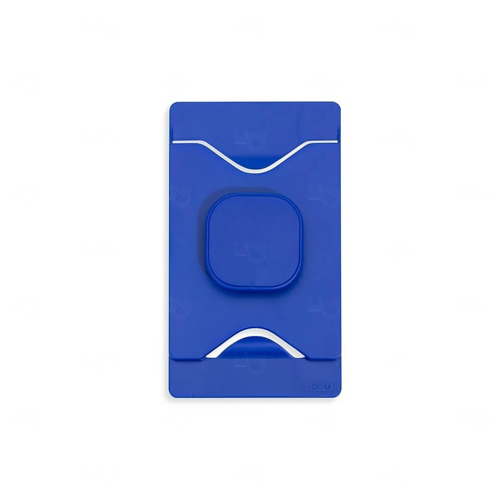 Porta Cartão Com Suporte Para Celular Personalizado Azul