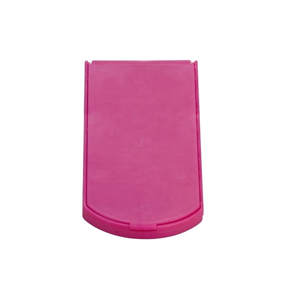Espelho De Bolso Personalizado Rosa