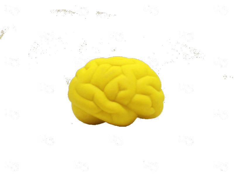 Cérebro Anti Stress Personalizado Amarelo