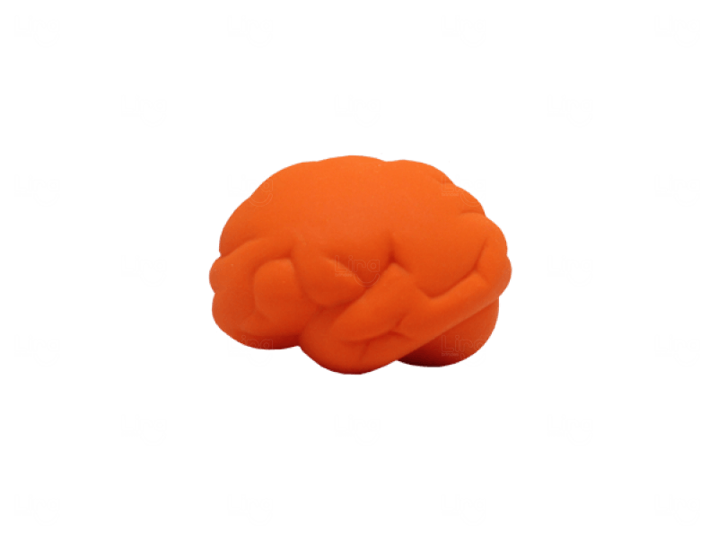 Cérebro Anti Stress Personalizado Laranja