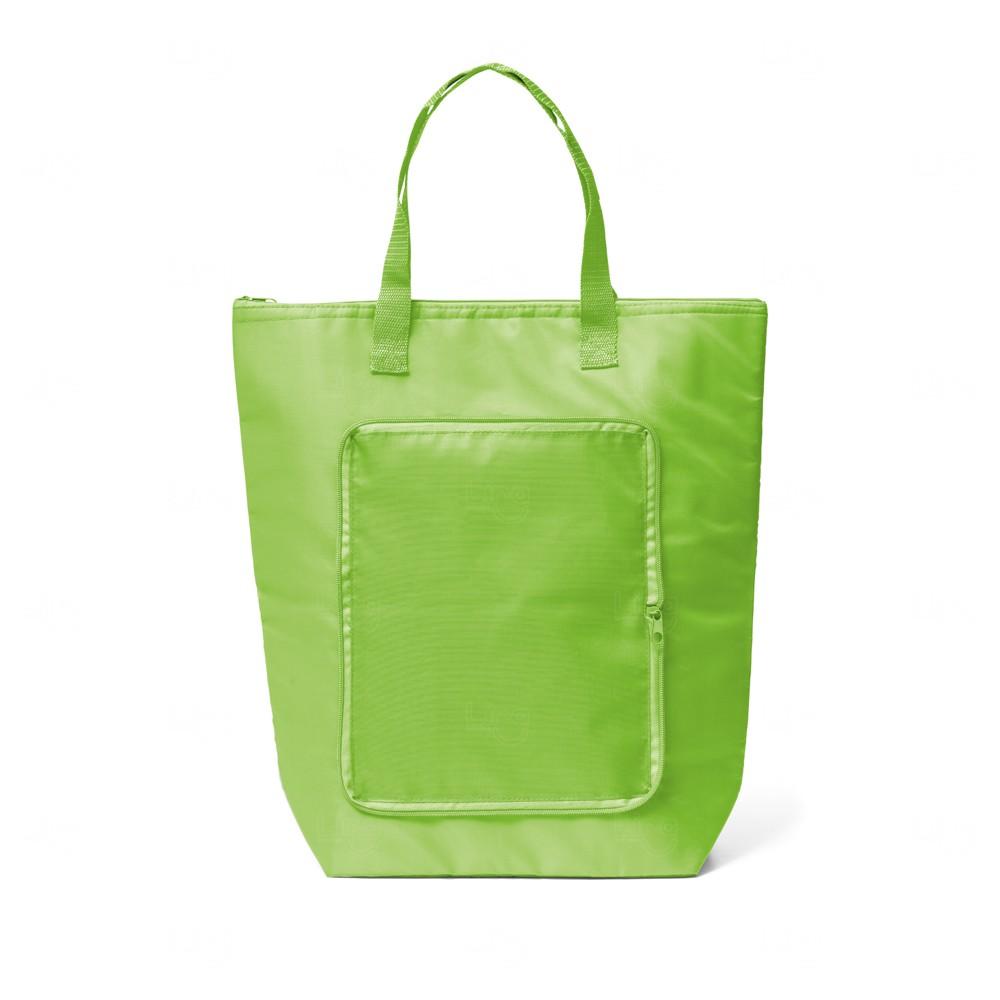 Sacola Térmica Dobrável Personalizada 16 Litros Verde