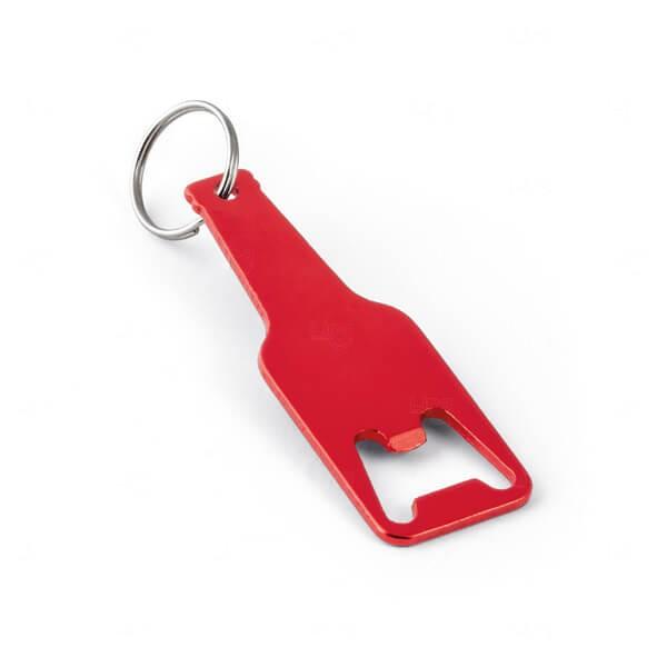 Chaveiro De Alumínio Personalizado Vermelho