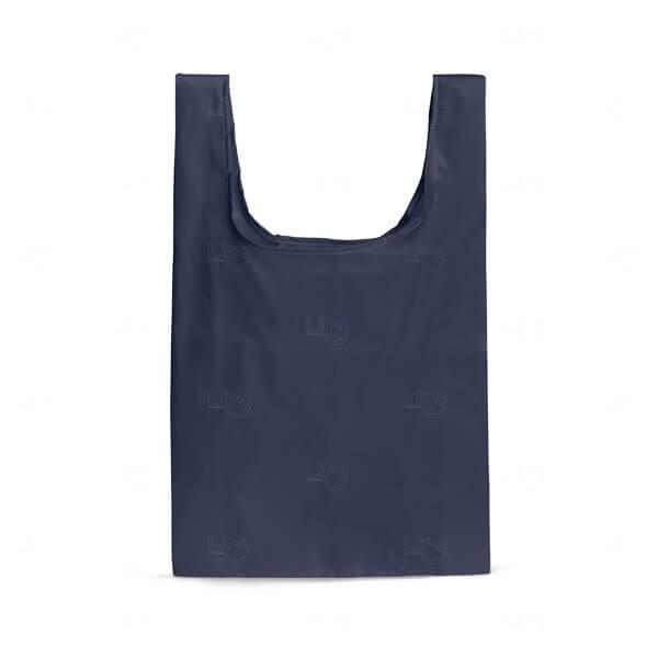 Sacola Dobrável Personalizada Azul